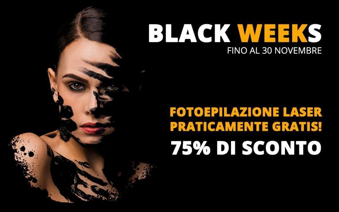 Fotoepilazione Laser Unisex Permanente Praticamente Gratis! – Black Friday – Black Weeks