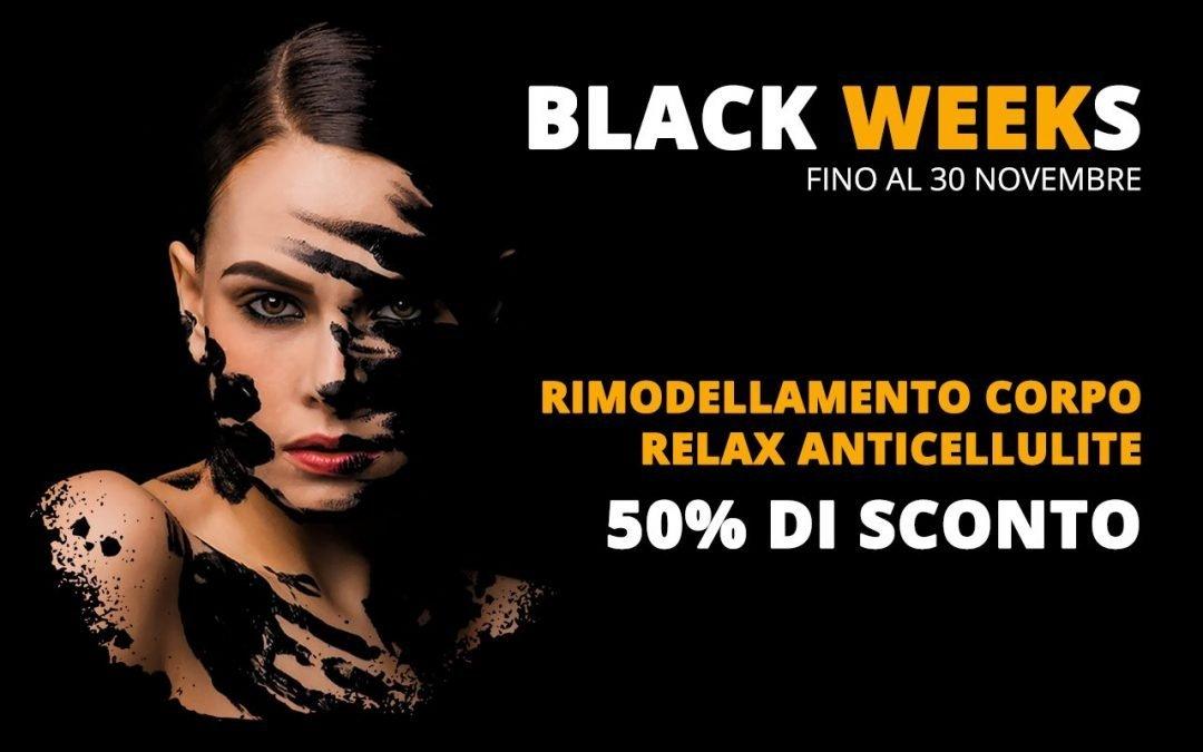 Rimodellamento corpo rilassante ed anticellulite – Black Friday – Black Weeks